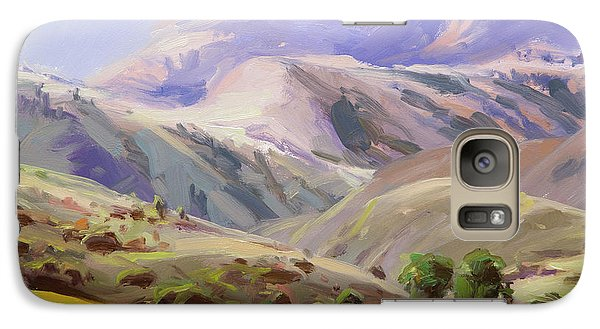 Pasture Galaxy S7 Case - Grazing In The Salmon River Mountains by Steve Henderson
