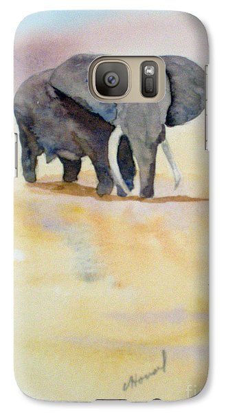 Galaxy Case featuring the painting Great African Elephant  by Vicki  Housel