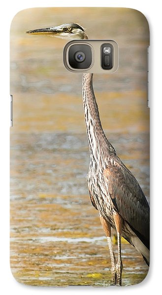 Galaxy Case featuring the photograph Great Blue At The Flats by Robert Frederick