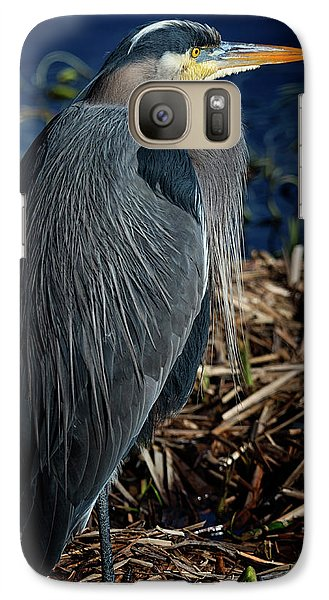 Galaxy Case featuring the photograph Great Blue Heron 2 by Randy Hall