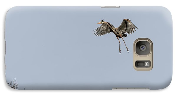 Galaxy Case featuring the photograph Great Blue Heron 2015-14 by Thomas Young