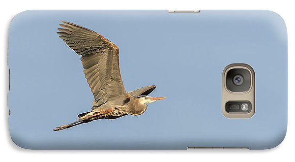 Galaxy Case featuring the photograph Great Blue Heron 2015-17 by Thomas Young