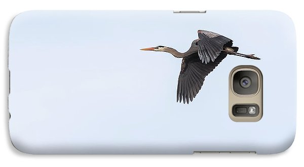 Galaxy Case featuring the photograph Great Blue Heron 2017-1 by Thomas Young