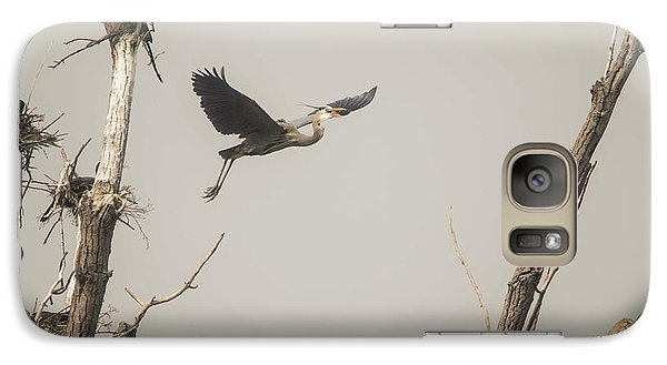 Galaxy Case featuring the photograph Great Blue Heron - 6 by David Bearden