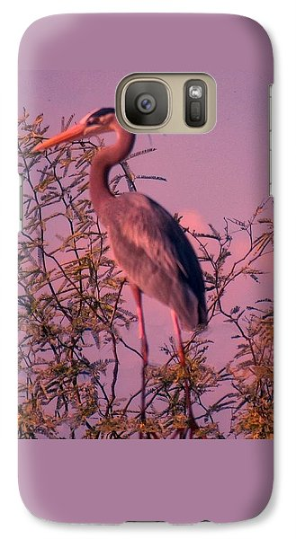 Great Blue Heron - Artistic 6 Galaxy S7 Case