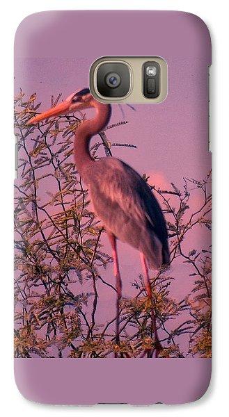 Great Blue Heron - Artistic 6 Galaxy S7 Case