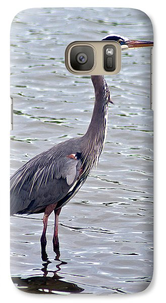 Galaxy S7 Case featuring the photograph Great Blue Heron by Bill Barber