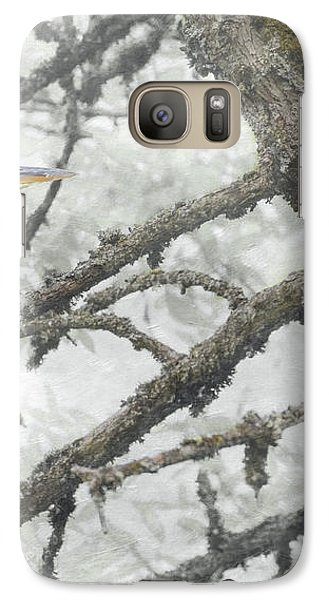 Galaxy Case featuring the photograph Great Blue Heron In Tree by Angie Vogel