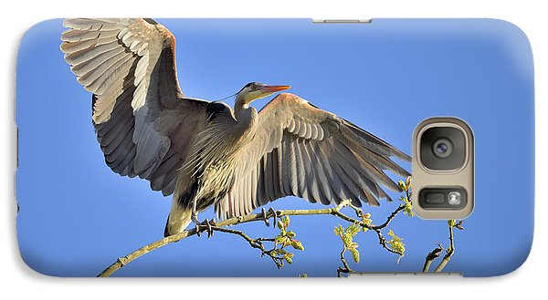 Galaxy Case featuring the photograph Great Blue Heron by Kathy King
