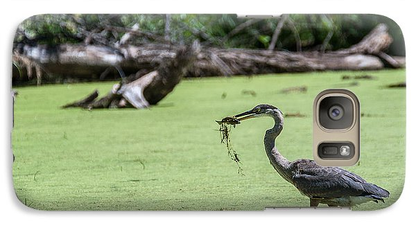 Galaxy Case featuring the photograph Great Blue Heron Main Meal by Edward Peterson