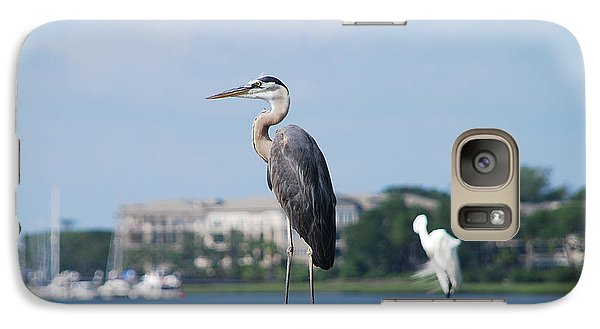 Galaxy Case featuring the photograph Great Blue Heron by Margaret Palmer