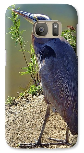 Galaxy Case featuring the photograph Great Blue Heron by Mariola Bitner