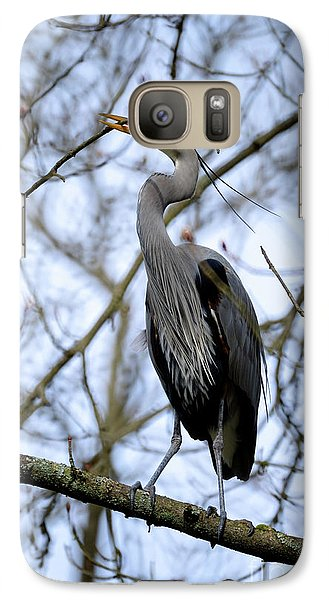 Galaxy Case featuring the photograph Great Blue Heron Nesting 2017 - 6 by Terry Elniski