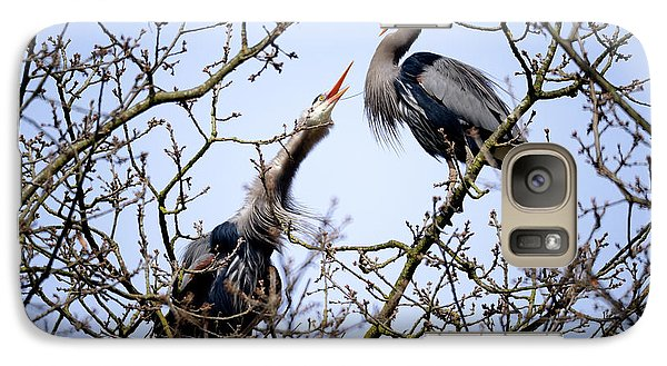 Galaxy Case featuring the photograph Great Blue Heron Nesting 2017 - 8 by Terry Elniski