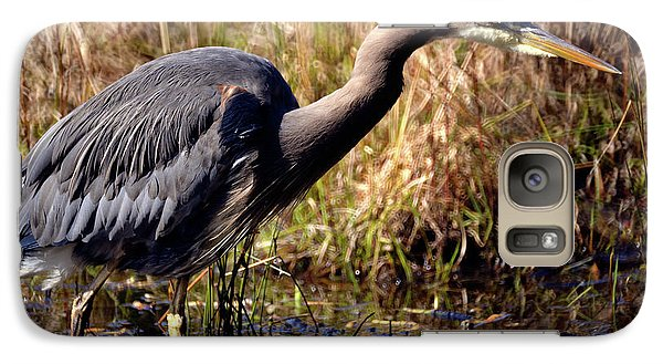 Galaxy Case featuring the photograph Great Blue Heron On The Hunt 1 by Terry Elniski