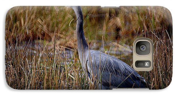 Galaxy Case featuring the photograph Great Blue Heron On The Hunt 3 by Terry Elniski
