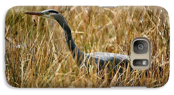 Galaxy Case featuring the photograph Great Blue Heron On The Hunt 4 by Terry Elniski
