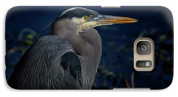 Galaxy Case featuring the photograph Great Blue Heron by Randy Hall