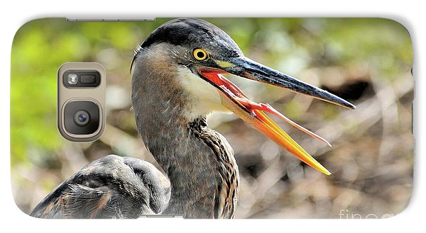 Great Blue Heron Tongue Galaxy S7 Case