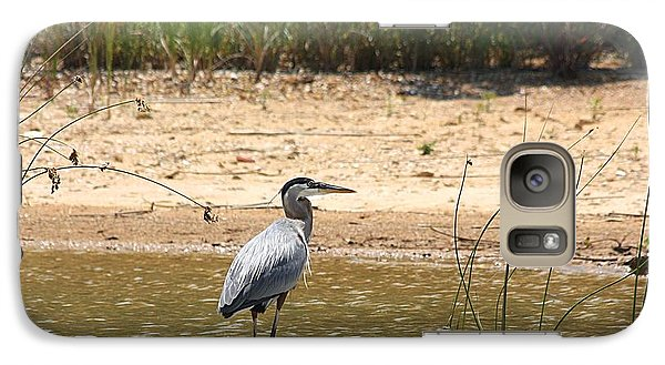 Galaxy Case featuring the photograph Great Blue Heron Wading by Sheila Brown