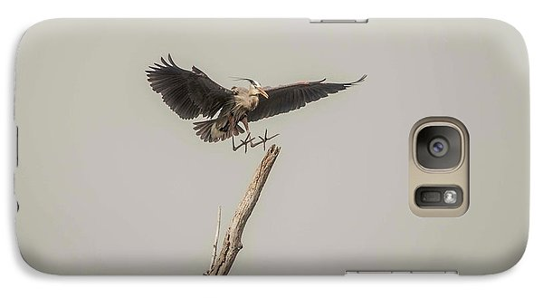 Galaxy Case featuring the photograph Great Blue Landing by David Bearden