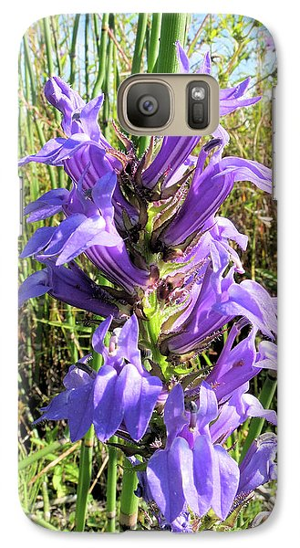 Galaxy Case featuring the photograph Great Blue Lobelia by Scott Kingery