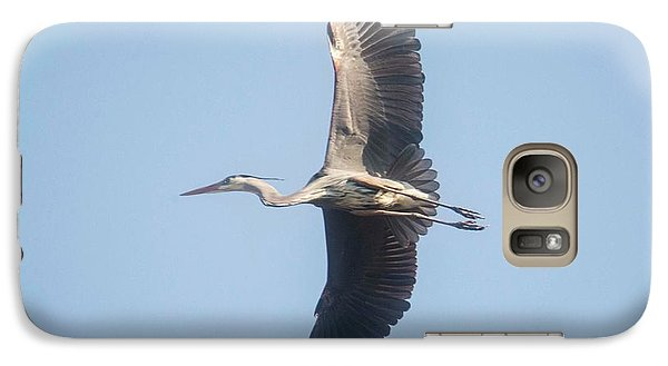 Galaxy Case featuring the photograph Great Blue On Final by David Bearden