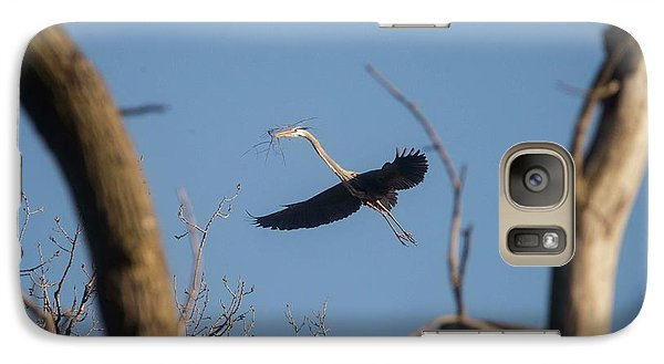Galaxy Case featuring the photograph Great Blues Nesting by David Bearden