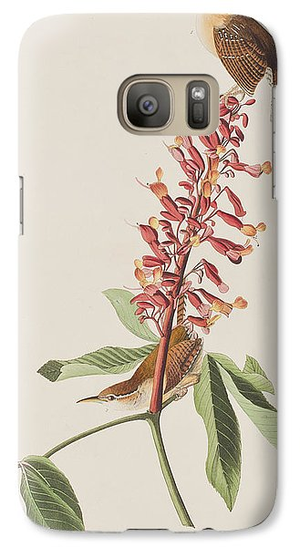 Great Carolina Wren Galaxy S7 Case by John James Audubon