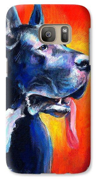 Great Dane Dog Portrait Galaxy Case by Svetlana Novikova
