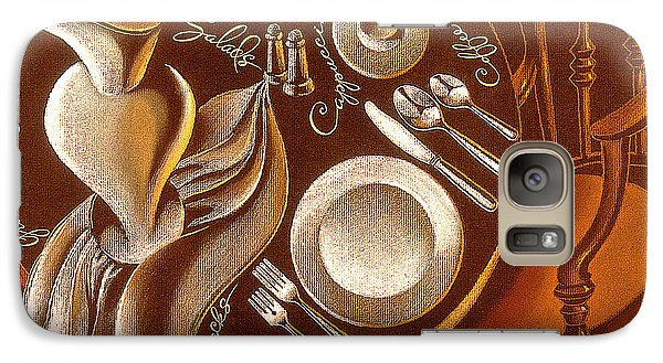 Galaxy Case featuring the painting Great Dining by Leon Zernitsky