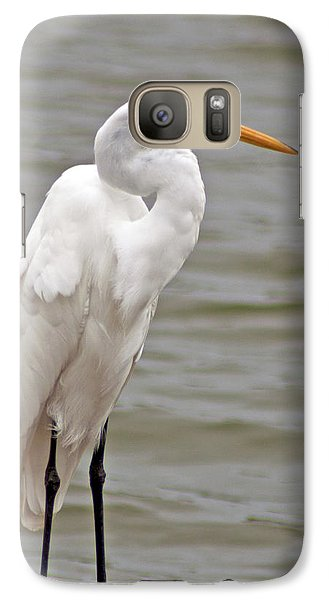 Galaxy S7 Case featuring the photograph Great Egret by Bill Barber