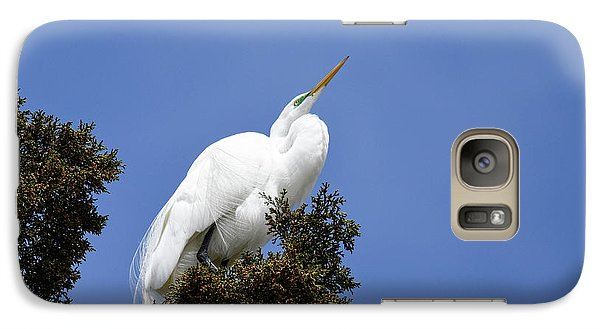 Galaxy Case featuring the photograph Great Egret by Gary Wightman