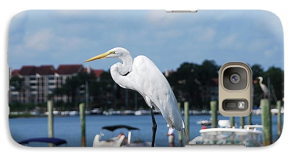 Galaxy Case featuring the photograph Great Egret by Margaret Palmer
