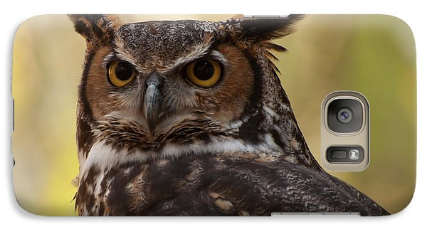 Galaxy Case featuring the photograph Great Horned Owl In A Tree 1 by Chris Flees