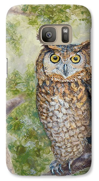 Galaxy Case featuring the painting Great Horned Owl by Joe Bergholm