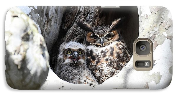 Galaxy Case featuring the photograph Great Horned Owl Nest by Gary Wightman