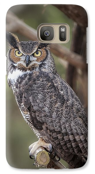 Galaxy Case featuring the photograph Great Horned Owl by Tyson and Kathy Smith