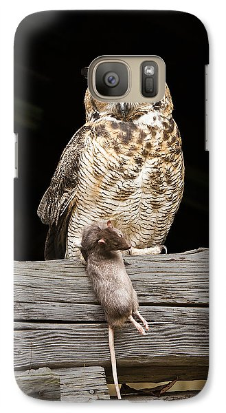 Galaxy Case featuring the photograph Great Horned Owl With Dinner by Tyson and Kathy Smith