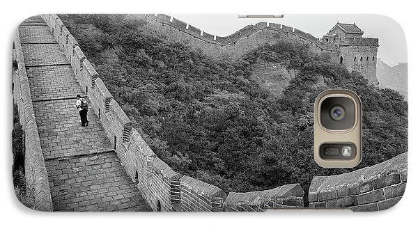 Galaxy Case featuring the photograph Great Wall 9, Jinshanling, 2016 by Hitendra SINKAR