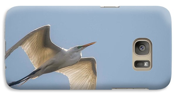 Galaxy Case featuring the photograph Great White Egret - 2 by David Bearden