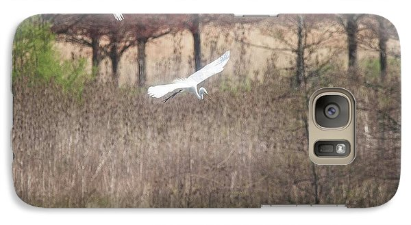 Galaxy Case featuring the photograph Great White Egret - 3 by David Bearden