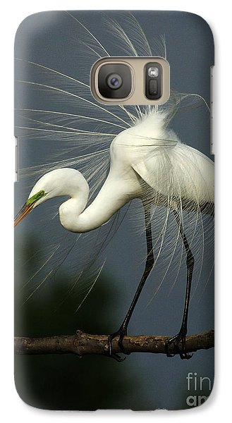Majestic Great White Egret High Island Texas Galaxy S7 Case