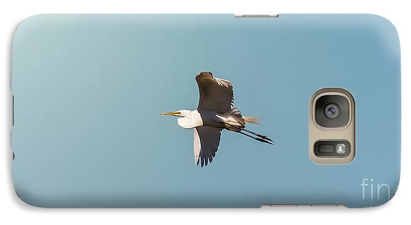 Galaxy Case featuring the photograph Great White Egret In Flight by Robert Frederick