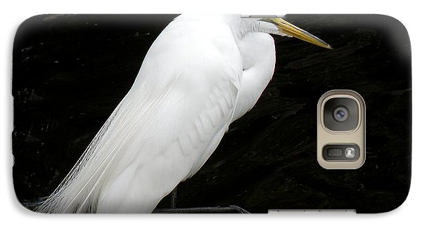 Galaxy Case featuring the photograph Great White Egret by Rosalie Scanlon