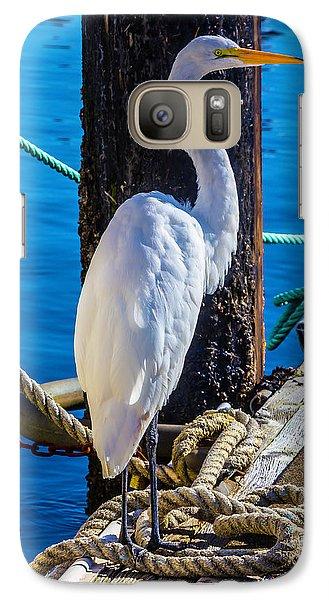 Great White Heron Galaxy S7 Case