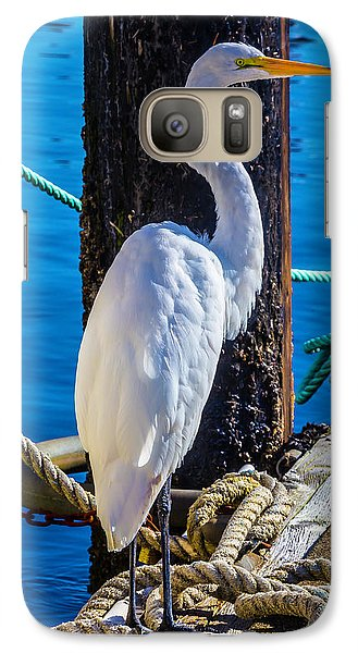 Great White Heron Galaxy S7 Case by Garry Gay