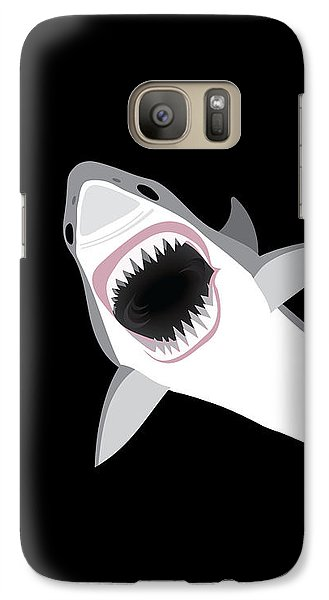 Sharks Galaxy S7 Case - Great White Shark by Antique Images