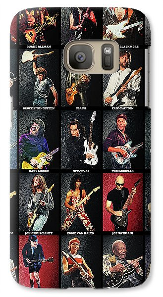 Eric Clapton Galaxy S7 Case - Greatest Guitarists Of All Time by Taylan Apukovska