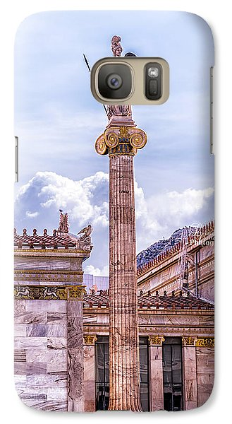 Galaxy Case featuring the photograph Greek God by Linda Constant